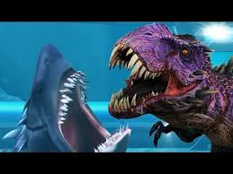 megalodon shark compared to t rex. Contemporary Shark MEGALODON SHARK Vs OMEGA TREX BOSS BATTLE  Jurassic World The Game Ep 4 HD Intended Megalodon Shark Compared To T Rex