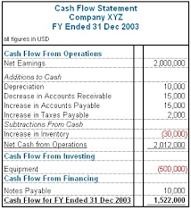 format of cash flow statements cash flow mba crystal ball