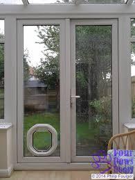 sliding glass door cat flap designs