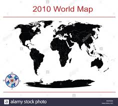 Editable World Map Stock Photo 33625444 Alamy