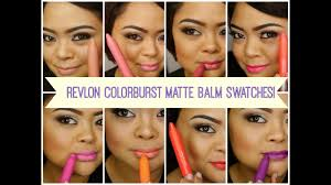 review swatches pt 1 revlon colorburst matte balms villabeautifful