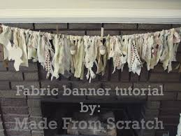 Fabric banners diy Wall Fabric Banner Tutorial Create Crafts Fabric Banner Tutorial By Made From Scratch Create