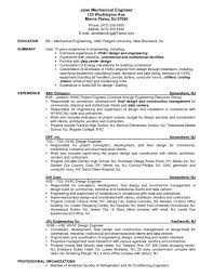 Mechanical Engineer Job Description Template Hvac Project Resume