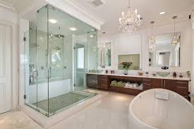 sumptuous schonbek in bathroom transitional with chandelier ideas next to crema pearl granite ideas alongside bathroom mirrors and lights and commercial bathroom chandelier lighting ideas