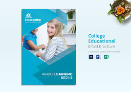 Education Brochure Templates College Educational Brochure Template