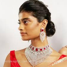 bridal jewellery on chandelier earrings