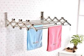 office glamorous wall mounted clothes drying rack 22 outstanding mount laundry room hanger shelf hooks