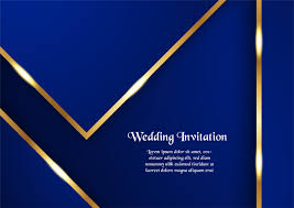 Wedding Invitation Background Blue Gold Luxury Invitation Free Vector Art 3 353 Free Downloads