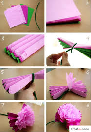Flower Made In Paper Flower Made Out Of Tissue Paper Tissue Paper Flowers