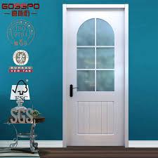 china white painting glass insert interior solid wood door gsp3 016 china door glass door