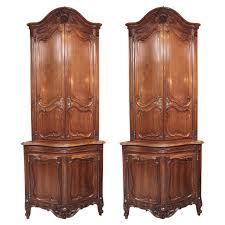 Corner Hanging Cabinet 19th Century Rustic English Corner Hanging Cabinet With Glass Door