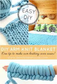 diy arm knitting project
