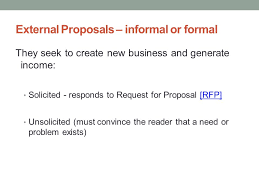 Informal Proposal Interesting Proposals And Formal Reports Ppt Download