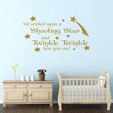 we wished upon a shooting star nursery wall sticker quote on wall decal quotes for nursery with nursery wall decal quotes elitflat