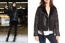 top vardy faux leather biker jacket