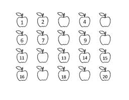 Missing Numbers Worksheets Apple Missing Number Worksheet By Headstart Teacher Tpt