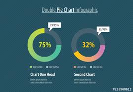 Double Pie Chart Infographic Layout Buy This Stock Template