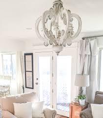 luxury farmhouse style chandelier light candle kitchen