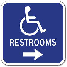 restroom signs. Brilliant Restroom Outdoor Rated Aluminum Accessible Restrooms Sign  Right Arrow 12x12  Reflective RustFree In Restroom Signs