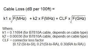 Coaxial Cable Loss Formula Image Master Cable And Service