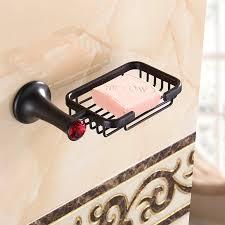 Best Bath Decor bathroom hardware accessories : Bathroom hardware accessories black brushed Soap basket holder ...