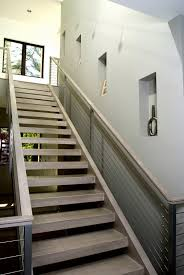Interior:Oak Wood Architectural Stair In Wall Mounted Idea Architectural  Straight Run Stair With Open