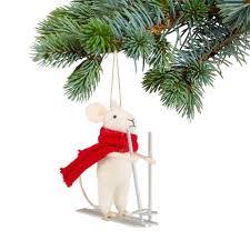 Maus Auf Skiern Christbaumschmuck