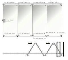 glass folding door system mp fd8100a frameless sliding glass