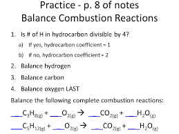 8 of notes balance combustion reactions jpg