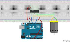 lesson dc motor control the schematic diagram