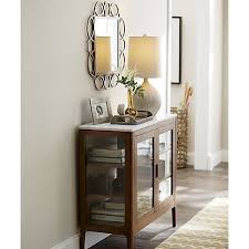 cameo 2 piece grey glass door wall unit crate and barrel entryway wall cabinet