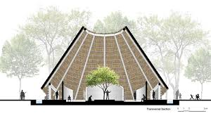 Architecture design concept Building Hut Design Concept By Kpra Design Indaba Hut Architecture Concept For Spiritual Community Design Indaba