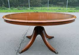 coffee table pedestal coffee table base large oval mahogany