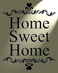 Small Picture Shabby Chic Rustic Stencil Home Sweet Home Heart Vintage style A4