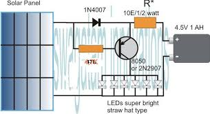 simplest automatic led solar light circuit solar garden light simplest automatic led solar light circuit solar garden light electronic circuit projects