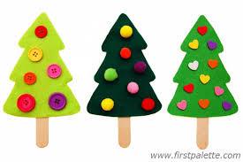 Easy Craft Stick Christmas Tree Craft
