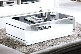 modern white coffee table contemporary white coffee table square attractive regarding large