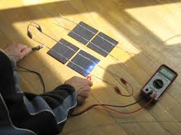 testing two connected solar cells