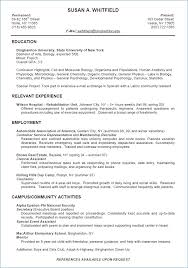 College Admission Resume Resume Layout Com