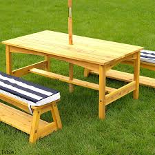 A1bOxbqrt8L SL1500 Outdoor Table And Bench Amazon Com KidKraft Chair Set  With Cushions Navy Stripes Toys