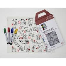 placemat with markers  mark mat  modern twist  until