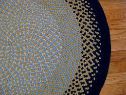image of 6 round braided rugs