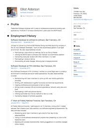 009 Software Engineer Resume Template Elliot Alderson Developer