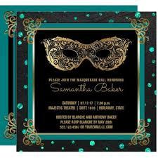 Sweet 16 Masquerade Ball Sweet Sixteen Teal Gold Invitation   Zazzle.com    Sweet 16 masquerade party, Sweet 16 masquerade, Masquerade party