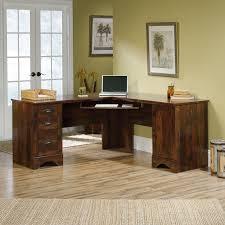 sauder harbor view corner computer desk salt oak cool furniture
