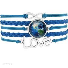 Nebula Planet Mercury Venus Earth Mars Jupiter Saturn Uranus Neptune Gift For Girl Friend Wedding Engagement Bracelets For Women