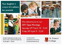 """St Francis' College on Twitter: """"Kindergarten, Prep and Senior School are  welcoming visitors this Saturday @FamiliesHerts @Littlunsofletch  @MNHertfordshire please R/T… https://t.co/eIxp9lJ8oy"""""""