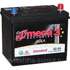 Аккумулятор A-Mega <b>АКБ</b> A-MEGA  ASIA (60Ач <b>о/п</b>) D23L в ...