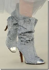 chanel glitter boots. chanel glitter boots t