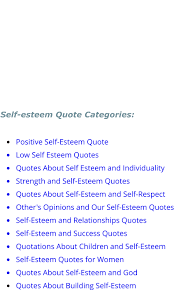 Low Self Esteem Quotes Extraordinary Self Esteem Quotes Home Page